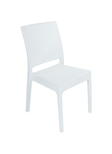 Mandella Elit Rattan Sandalye (6 adet) Beyaz